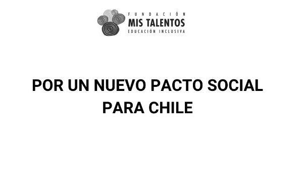 Declaración: Nos ponemos a disposición para un Nuevo Pacto Social